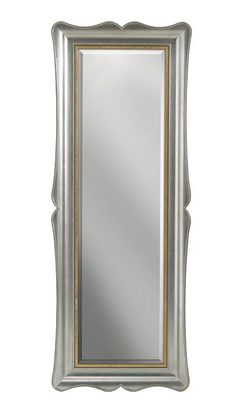 Miroir mural vertical en bois la feuille lamaisonplus for Miroir vertical