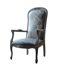 fauteuil, fauteuil shabby, fauteuil classique en bois