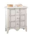 table de chevet, chevet blanc, table de nuit avec tiroirs