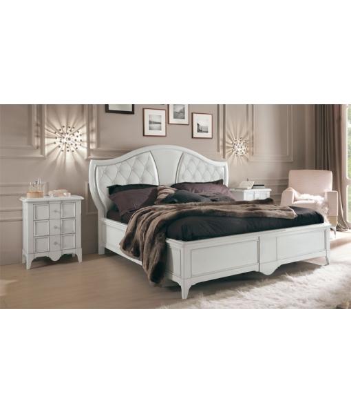 Lit classique Tête de lit rembourrée - LaMaisonPlus