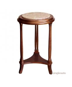 petite table, table d'appoint, table porte-pot, petite table avec marbre