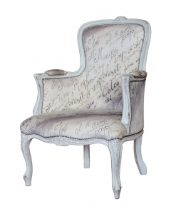 fauteuil, fauteuil avec accoudoirs, shabby chic