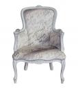 fauteuil, fauteuil shabby chic, fauteuil provençal