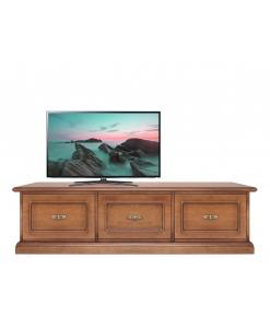 Meuble tv bas 3 grands tiroirs
