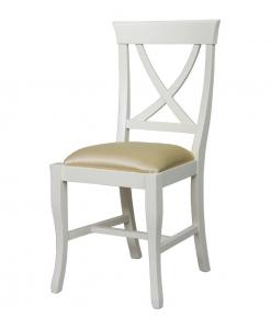 chaise everyday assise rembourrée, chaise de cuisine, chaise blanche, salle à manger