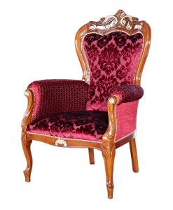 fauteuil de style, fauteuil de luxe, fauteuil de salon, tissu arabesque