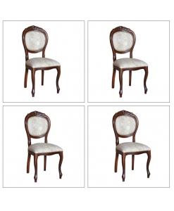 Lot de 4 chaises classiques en bois