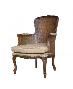 fauteuil classique, paille de vienne, fauteuil de lecture, fauteuil