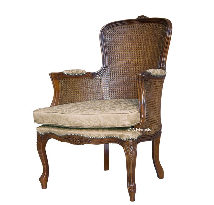 fauteuil classique en paille de vienne lamaisonplus. Black Bedroom Furniture Sets. Home Design Ideas