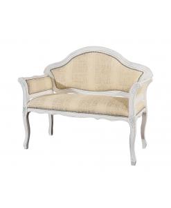 canapé, petit canapé, canapé blanc, canapé deux places, salon