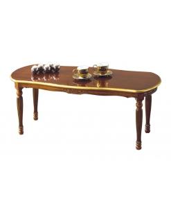 Table basse ovale de salon, table de salon, table basse classique, table à thé