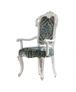 chaise bout de table, chaise blanche, chaise classique