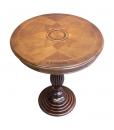 Table guéridon Marguerite, table ronde de salon, table à thé, table classique marqueterie