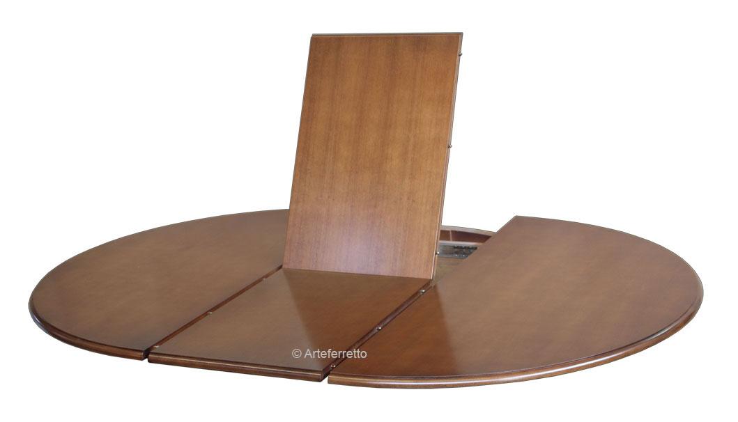 Table ronde noire avec rallonge diam tre 110 cm for Table ronde 90 cm avec rallonge