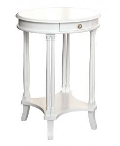 Petite table ovale avec tiroir laquée Arteferretto