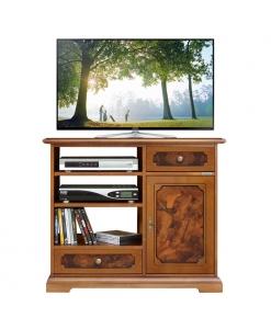 meuble tv classique ronce de noyer, achat meuble tv, meuble de télévision, meuble tv écran plat