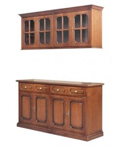 buffet + vitrine, rangement cuisine, mobilier de rangement, meubles pour salon, buffet, vitrine