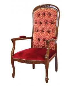 fauteuil voltaire, fauteuil assise basse, fauteuil classique pour salon