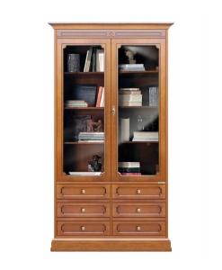 Vitrine bibliothèque avec tiroirs W&G