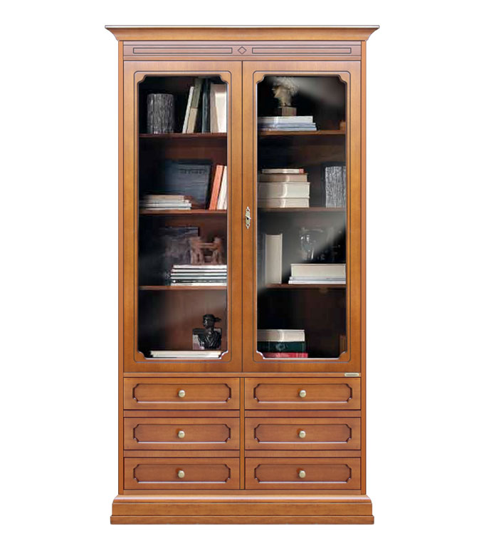 vitrine biblioth que avec tiroirs lamaisonplus. Black Bedroom Furniture Sets. Home Design Ideas