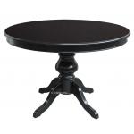 Table à manger noire ronde avec allonge Arteferretto