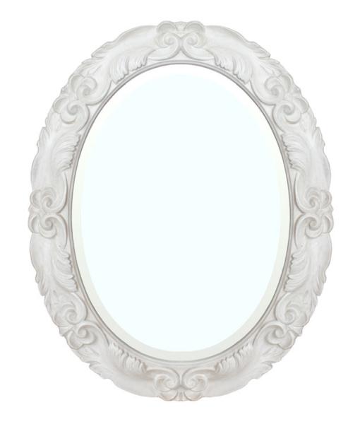 miroir, miroir blanc, miroir style shabby