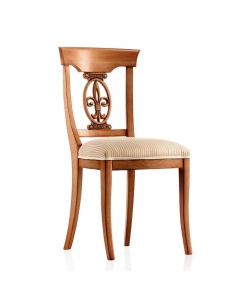 chaise de salle à manger en bois, chaise classique, chaise en bois, chaise tissu, chaise rembourrée