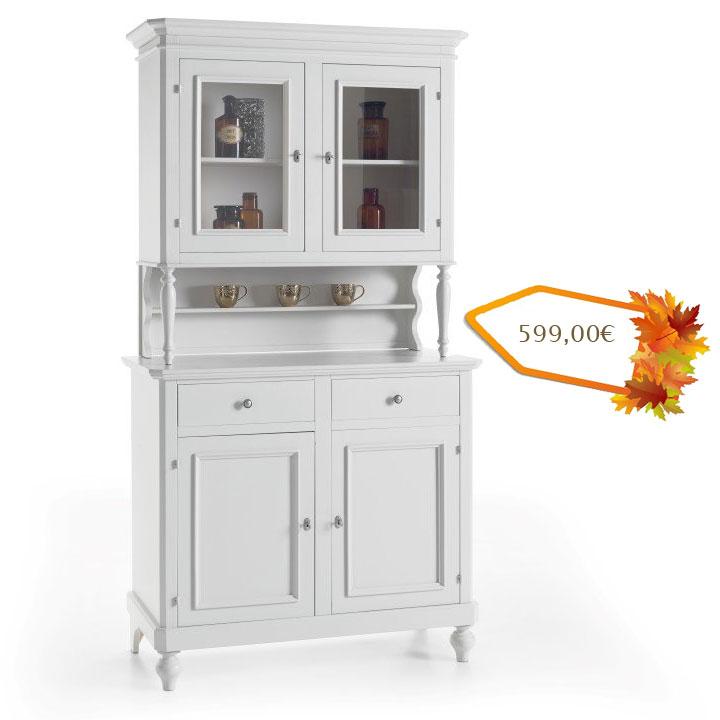 vaisselier de cuisine laqu blanc lamaisonplus. Black Bedroom Furniture Sets. Home Design Ideas