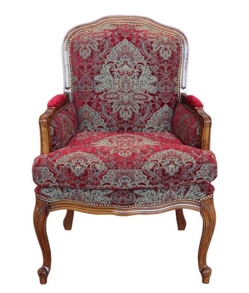 fauteuil berg re grand confort tissu damass lamaisonplus. Black Bedroom Furniture Sets. Home Design Ideas
