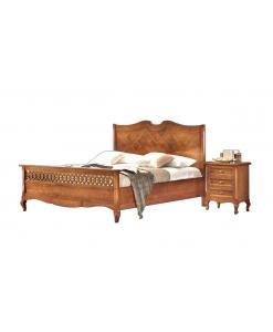 lit classique, lit en bois massif, lit chambre adulte, lit matrimonial, lit deux places