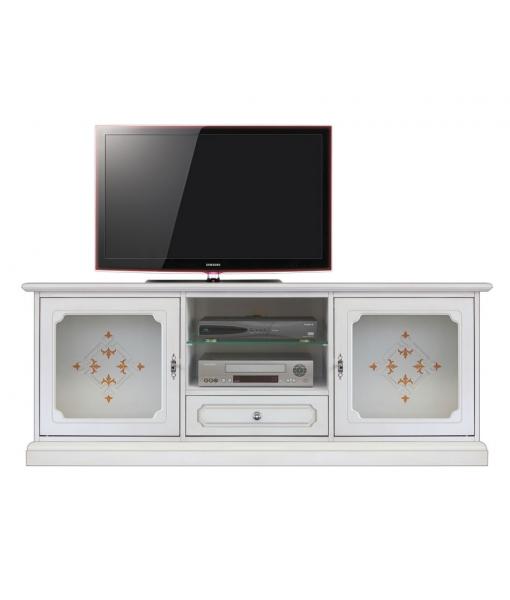 Meuble banc tv en bois réf. 14004