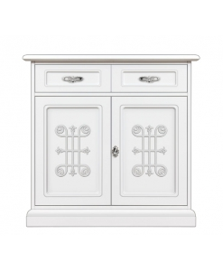 Meuble buffet 2 portes laqué Collection You Silver Arteferretto