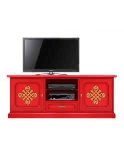 Meuble tv 150 cm largeur Modena Gold Arteferretto