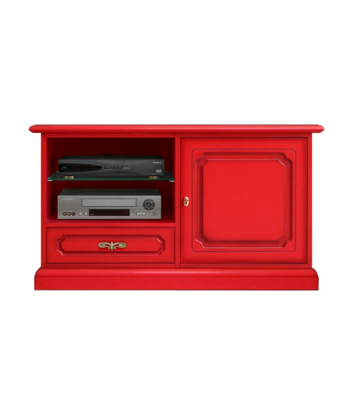 Promo meuble tv rouge vif midimod ne lamaisonplus for Meuble tv rouge