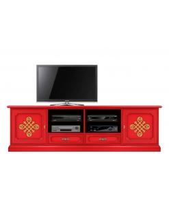 Meuble Tv 2 mètres largeur red & gold Arteferretto