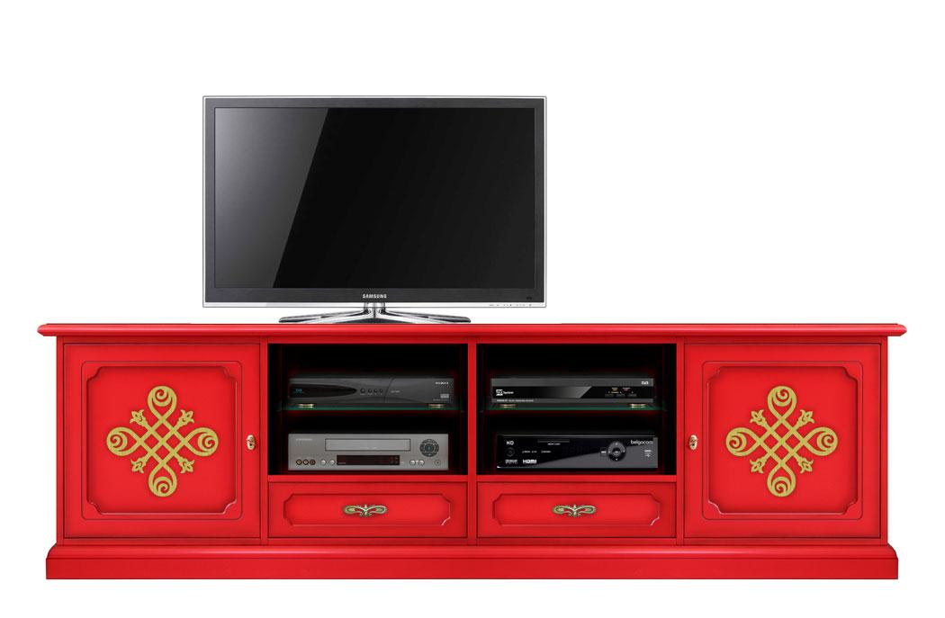 Meuble tv 2 m tres largeur red gold lamaisonplus for Meuble tv petite largeur