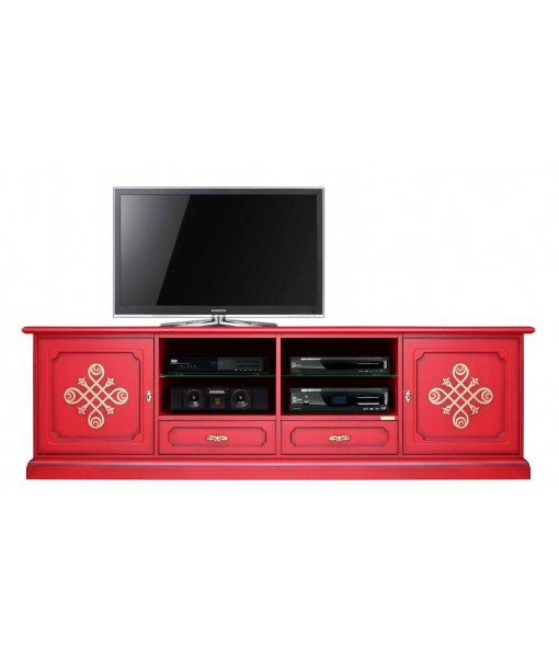 Meuble Tv 2 mètres largeur Red & Gold réf. 4010-YOU-RED