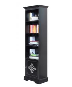 bibliothèque noire, bibliothèque haute, bibliothèque colonne, achat bibliothèque