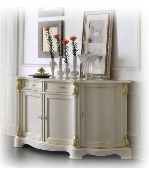 Meuble buffet classique white gold lamaisonplus Meuble classique
