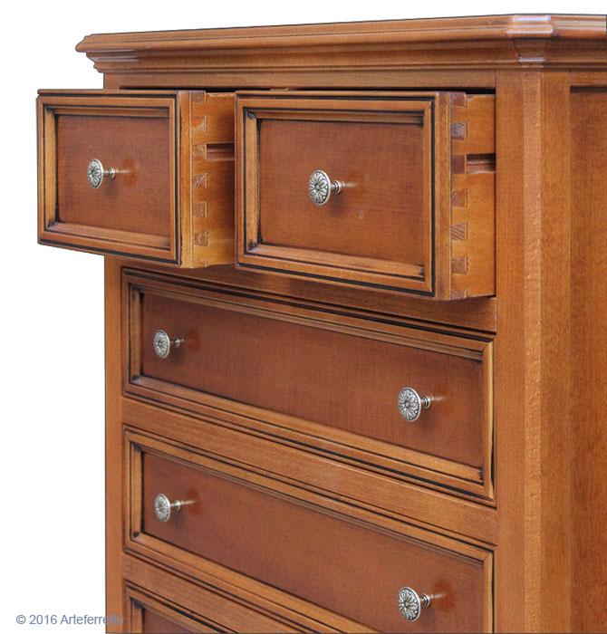 meuble chiffonnier 6 tiroirs lamaisonplus. Black Bedroom Furniture Sets. Home Design Ideas