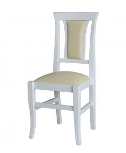chaise blanche en bois