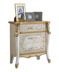 Table de chevet décorée, table de nuit, table de chevet et commode