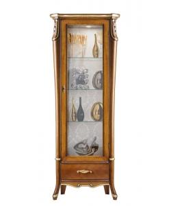 vitrine haute, vitrine avec tiroir, vitrine étroite, vitrine petit espace, meubles pour salon, mobilier de style classique