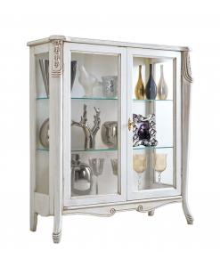 vitrine argentier, vitrine blanche, meuble vitrine vaisselier