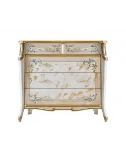 Meuble commode, commode décorée, commode rangement, commode avec tiroirs, commode pour salon