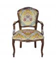 Fauteuil en bois massif, fauteuil, fauteuil classique, chaise avec accoudoirs