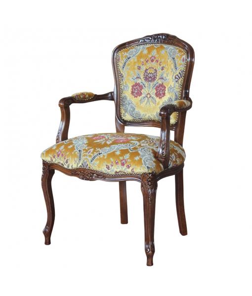 fauteuil classique, fauteuil rembourré, tissu velours