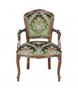 fauteuil tissu velours, fauteuil en bois