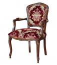 fauteuil velours bordeaux, fauteuil style classique