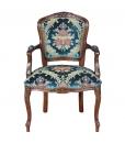 fauteuil en bois massif, fauteuil de style, fauteuil classique, fauteuil rembourré, fauteuil style classique
